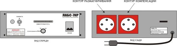 Вид блока управления ЛАБС-7КР