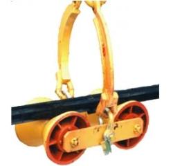 Подвеска троллейная на катках металлических